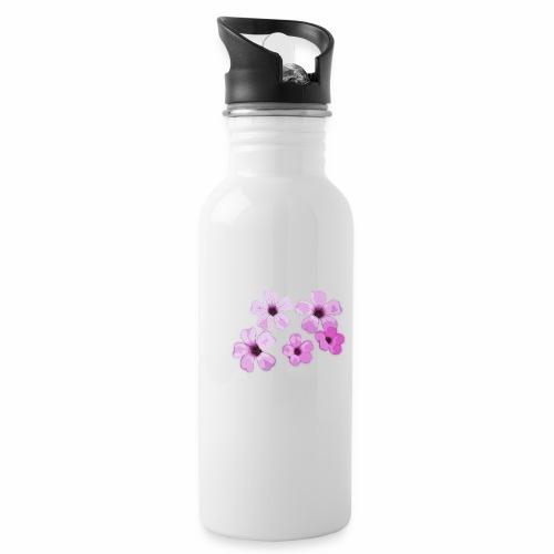 Blumen violett - Trinkflasche