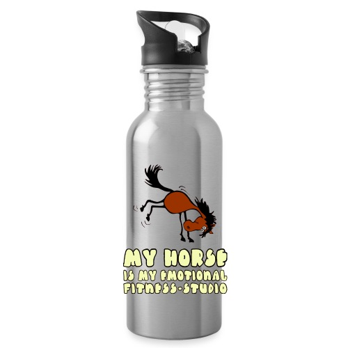 my horse is my emotional Fitness Studio - Trinkflasche