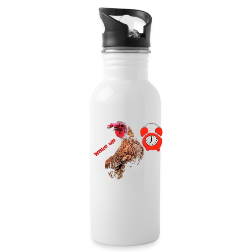 Wake up, the cock crows - Water Bottle