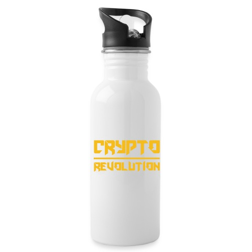 Crypto Revolution III - Water bottle with straw