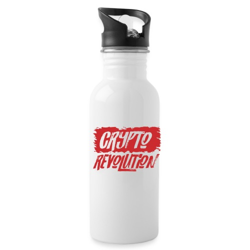 Crypto Revolution - Water bottle with straw