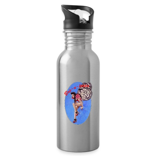 Vintage Rockabilly Butterfly Pin-up Design - Water Bottle