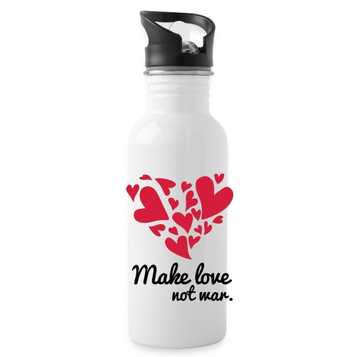 Make Love Not War T-Shirt - Water Bottle