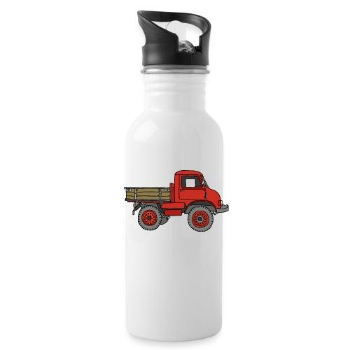 Roter Lastwagen, LKW, Laster - Trinkflasche