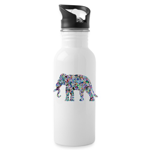 Elephant - Water bottle with straw