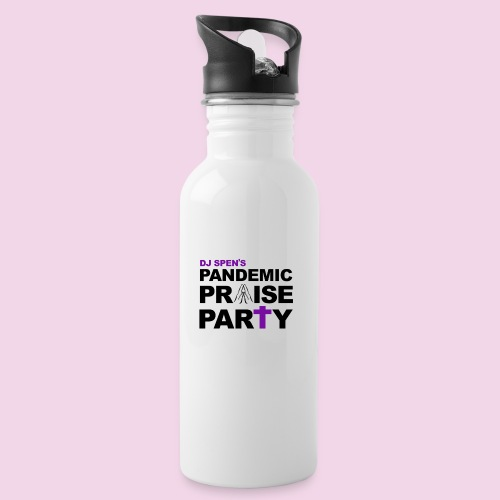 Pandemic Praise Party Logo - Water Bottle