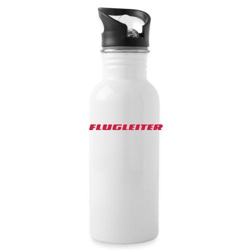 flugleiter - Trinkflasche mit integriertem Trinkhalm