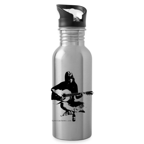 Cynthia Janes guitar BLACK - Water bottle with straw