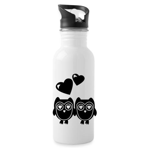 verliebte Eulen - Trinkflasche