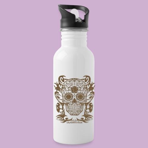SKULL FLOWERS LEO - Trinkflasche