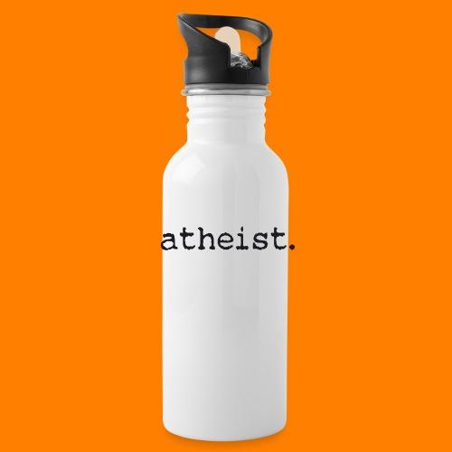 atheist BLACK - Water bottle with straw