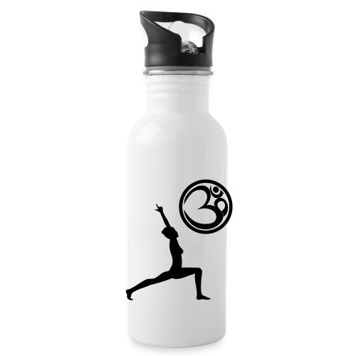 Der Held Yoga Asana Warrior mit OM Symbol Cool - Trinkflasche