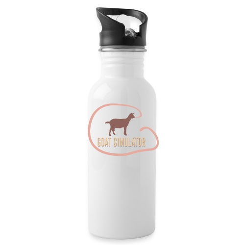 goat - Water bottle with straw