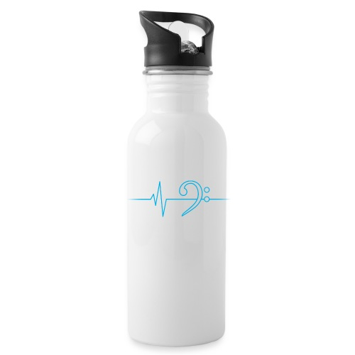 LowHeartBeat cyan - Trinkflasche