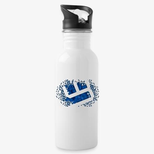 w4sted v2 logo blue - Water Bottle