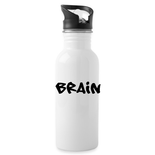 brain schriftzug - Trinkflasche