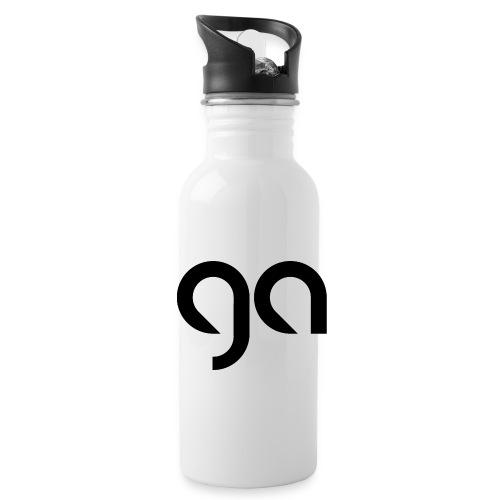 Logo Gymnasium Altlünen schwarz - Trinkflasche