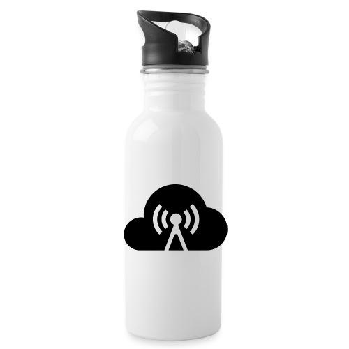 Cloud Cast Wolke schwarz mit Schriftzug - Trinkflasche
