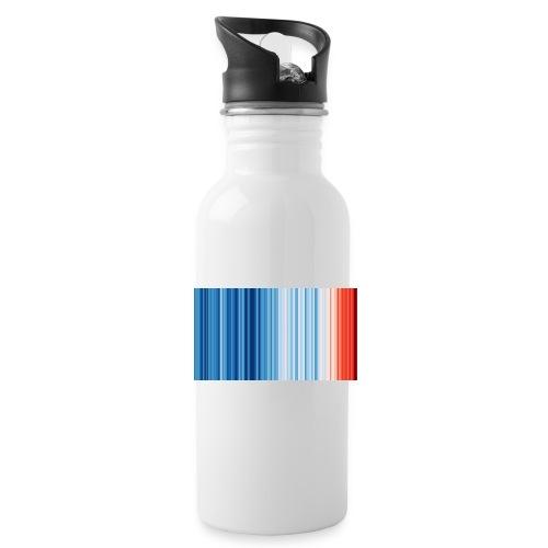 Klimawandel - Warming Stripes - Wärmestreifen - Trinkflasche