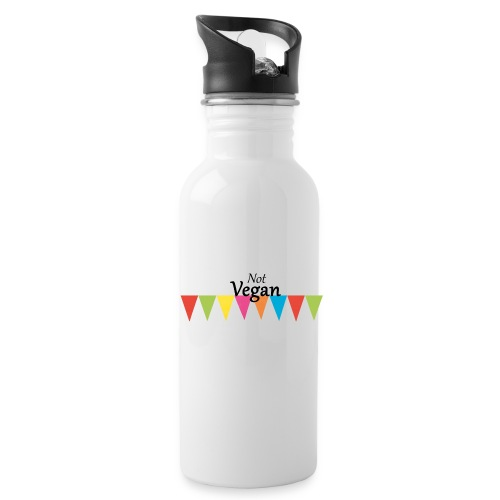 Not Vegan - Water bottle with straw