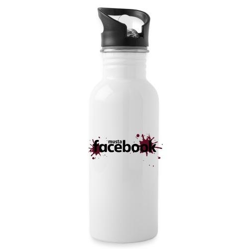 Musta Facebook -t-paita - Juomapullot