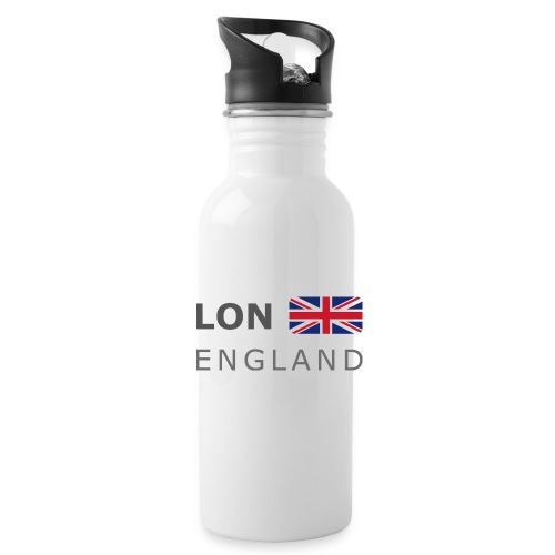 LON ENGLAND BF dark-lettered 400 dpi - Water Bottle