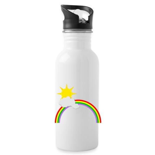Regenbogen, Sonne, Wolken - Trinkflasche