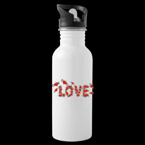 Flying Hearts LOVE - Water Bottle
