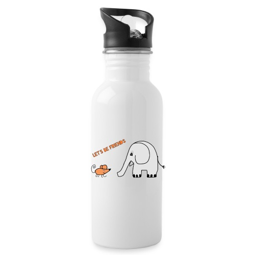 Elephant and mouse, friends - Water Bottle
