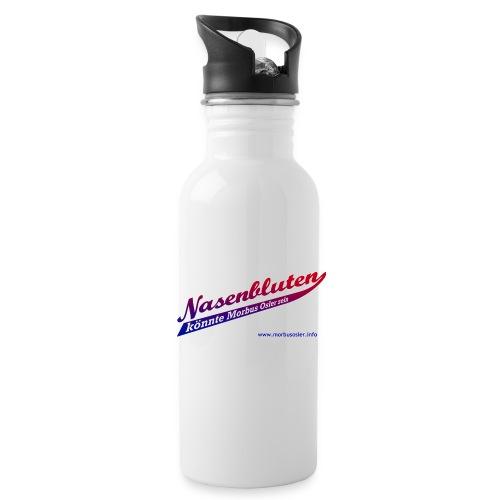 nasenbluten_color - Trinkflasche mit integriertem Trinkhalm