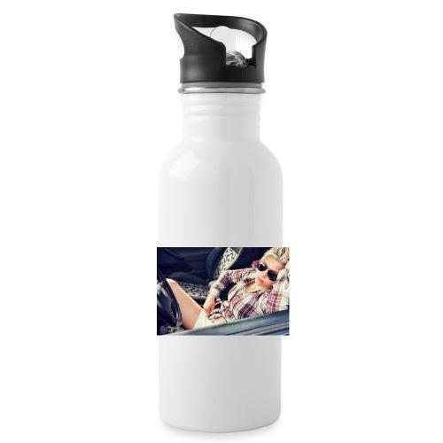 Cool woman in car - Water Bottle