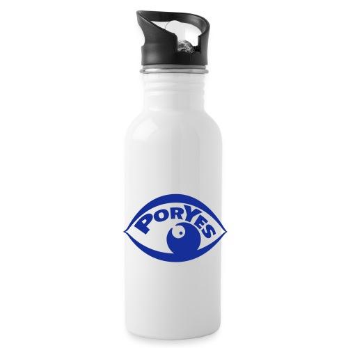 logo poryes lila - Trinkflasche