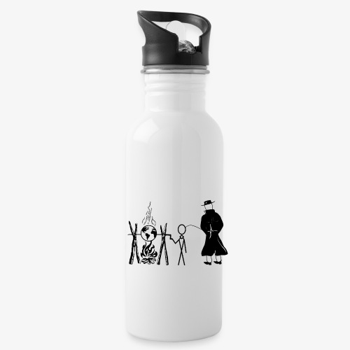Pissing Man against human self-destruction - Trinkflasche