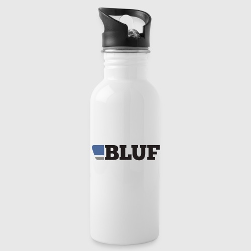 BLUFblack450dpiTRANS 8cm png - Water bottle with straw