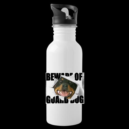 beware of guard dog - Water Bottle