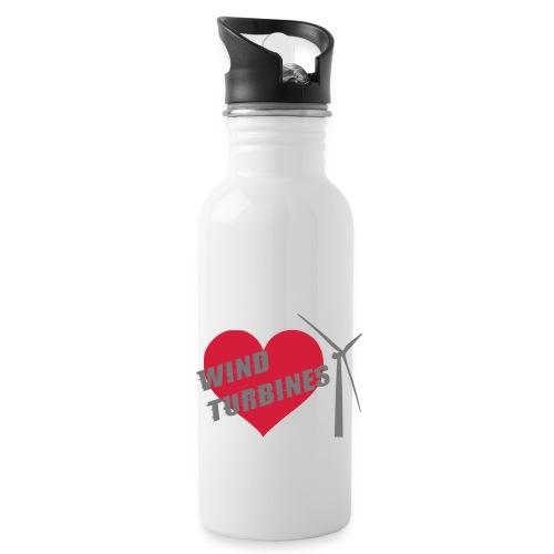 wind turbine grey - Water Bottle