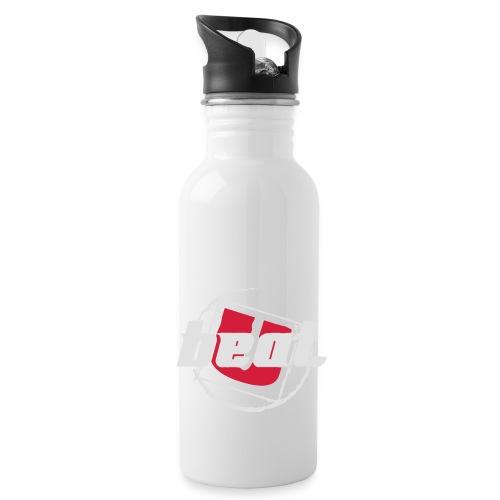 BeatU Logo Weiß/Rot - Trinkflasche