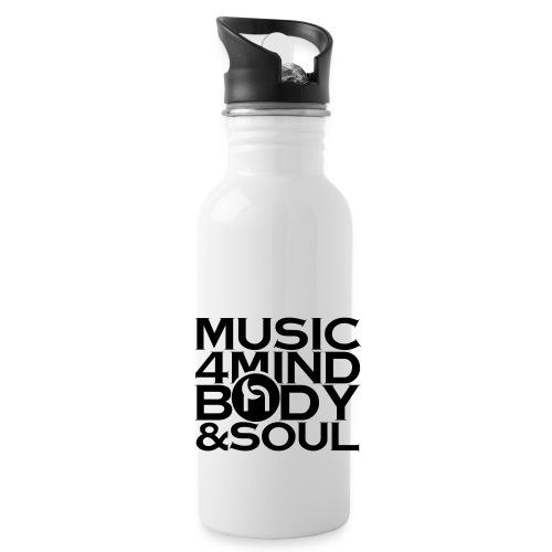 Music 4 Mind, Body & Soul Black - Water Bottle