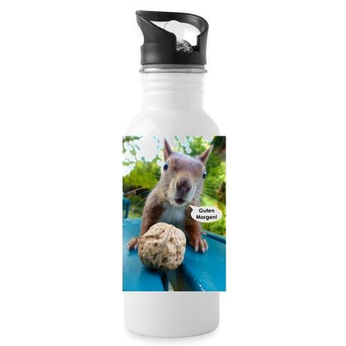 Guten-Morgen-Gruß vom Eichhörnchen - Trinkflasche