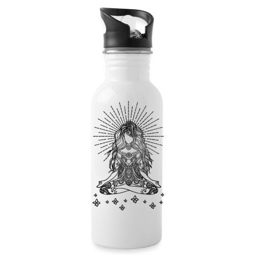 Boho Yoga Mädel Happy Life - Trinkflasche