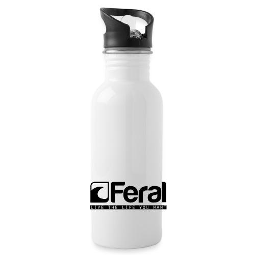 Feral Surf - Live the Life - Black - Water Bottle