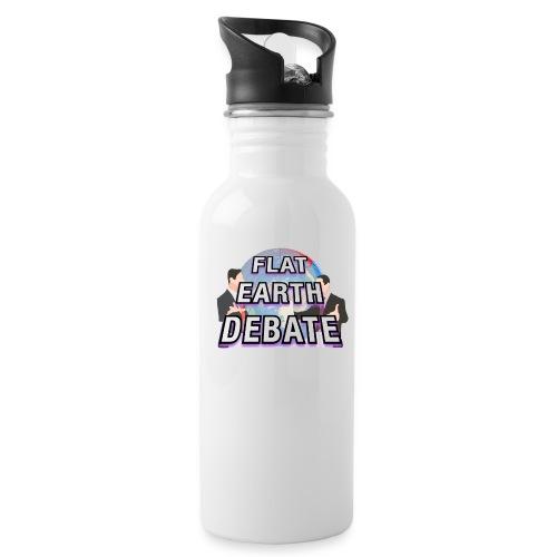 Flat Earth Debate Solid - Water Bottle