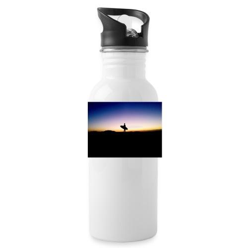 Surfer Sunset Silhouette - Water Bottle