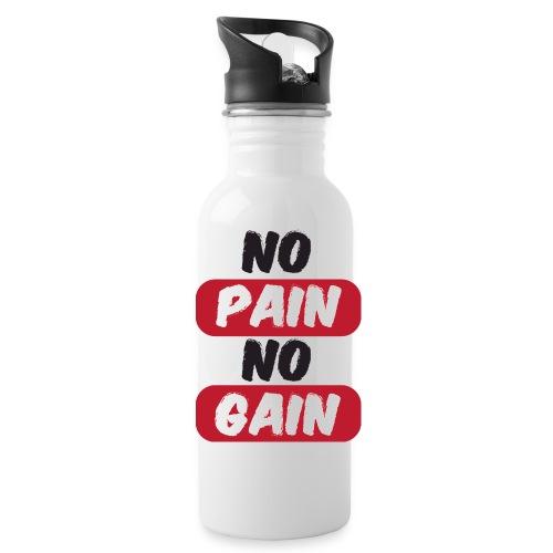no pain no gain t shirt design fitness - Borraccia