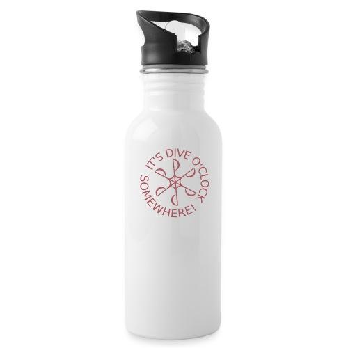 Dive o clock Dark Pink - Water Bottle