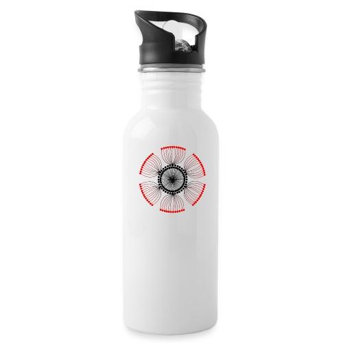 Red Poppy Seeds Mandala - Water Bottle