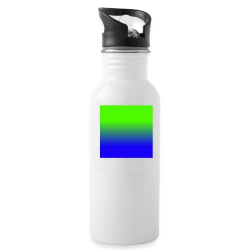 Linear pattern of green and blue - Water Bottle