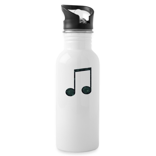 Low Poly Geometric Music Note - Water Bottle