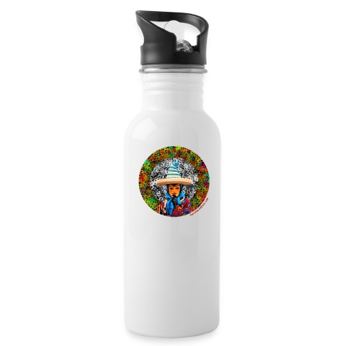 Fasnet - Trinkflasche mit integriertem Trinkhalm