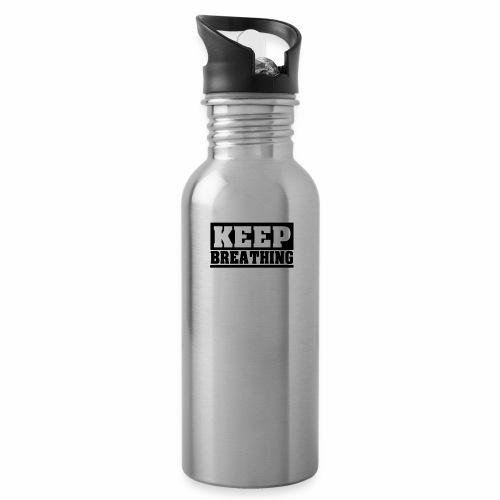 KEEP BREATHING Spruch, atme weiter, schlicht - Trinkflasche